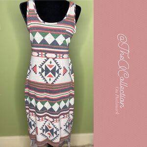 Blu Pepper Tribal Print Maxi Dress Sz M